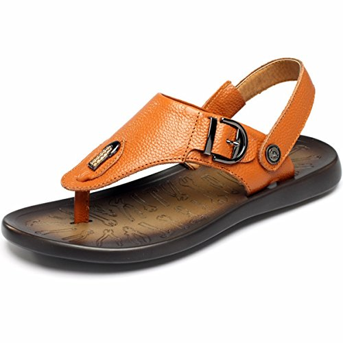 PINUO 2016 Summer Men's Korean Fashionable Flip Sandals Casual Beach Slip Sandals and Slippers by PINUO