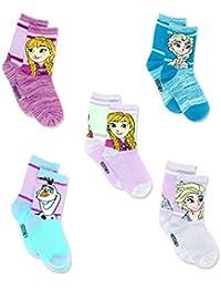 Frozen Girls Toddler Multi Pack Socks Set