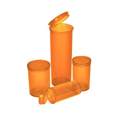 Philips Rx Translucent Amber Colored Pop Top Bottle 60 Dram (2 Boxes - 75 Containers per Box) - MJ-PPVA60