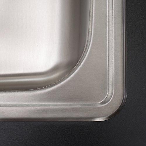 Kraus KTM32 33 inch Topmount 60/40 Double Bowl 18 gauge Stainless Steel Kitchen Sink by Kraus (Image #6)