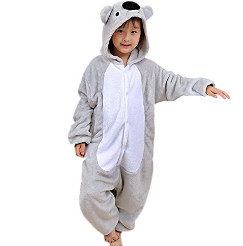 Magicmode Unisex Bambini Cartoon Grigio Koala Un Pezzo Onesie Pigiama Cosplay Costume