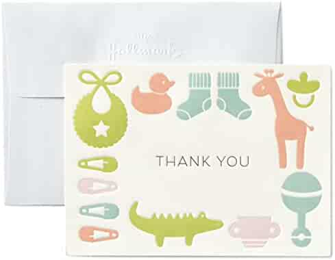 Hallmark Baby Thank You Cards, Gender Neutral (10 Cards with Envelopes)