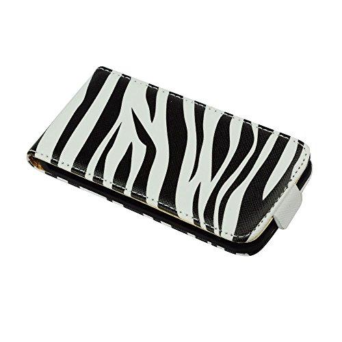 """Handytasche Flip Case """"Zebra"""" für """"Apple Iphone SE"""" Handy Tasche Schutz Hülle Etui Schale Cover"""