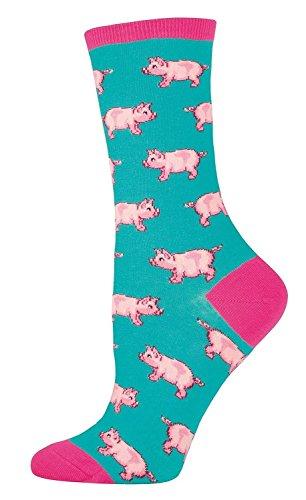 Socksmith Ladies This Little Piggy Sock, Jade