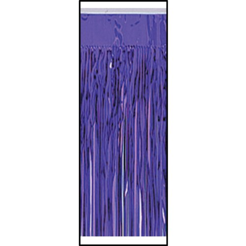 Pkgd 2-Ply FR Metallic Table Skirting (purple) Party Accessory  (1 count) (1/Pkg)