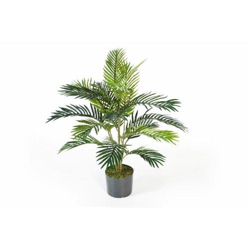 Künstliche Areca-Palme im Zementtopf, 17 Palmwedel, 90 cm - Kunstpalme / Dekopalme