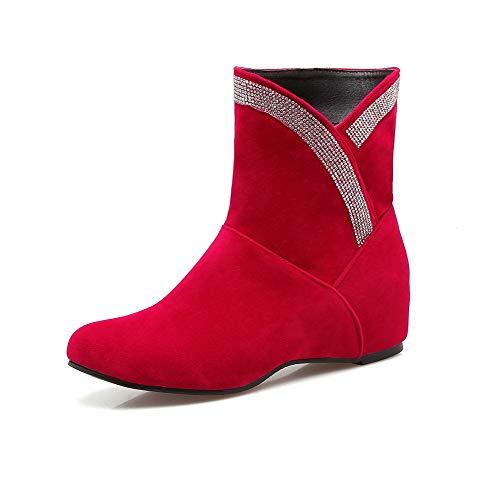Stivali Stivali Stivali Donna Donna Donna Donna Medio Rosso Tacco Chiusa Puro Tirare GMMXB015021 Punta AgooLar 0daWqqn