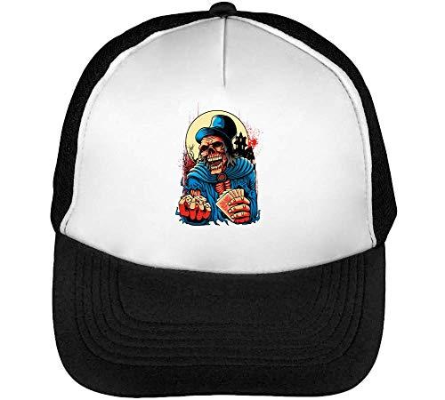 Gorras Hombre Negro Blanco Beisbol Horror Gambling Skeleton Snapback tw8PPq