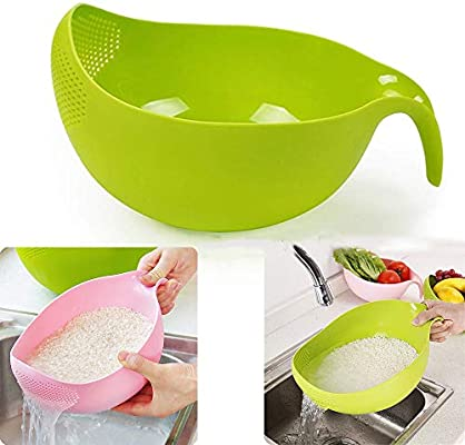 ACOMG Lavado de Cocina Tamiz de arroz, Lavadora de Pasta plástica ...