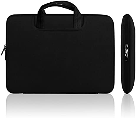 e9a1bb732d74 Lavievert Soft Neoprene(Water Resistance) Handle Bag Briefcase Handbag with  Two Extra Pockets for 13