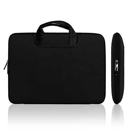 Lavievert Soft Neoprene(Water Resistance) Handle Bag Briefcase Handbag with Two Extra Pockets for 13