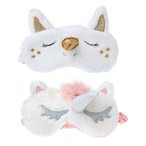 MAGICMAI Unicorn Sleeping Mask Cute Unicorn Horn Soft Plush
