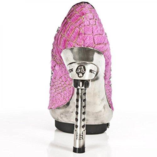 Nuovi Stivali Da Roccia M.punk043-c7 Eleganti Urban Damen Highheels Rosa