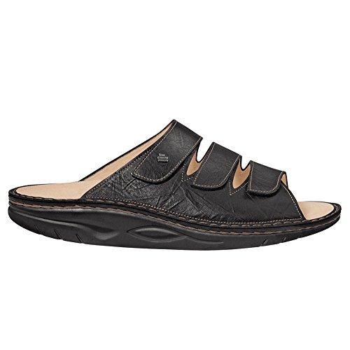 Finn Comfort Men's Andros Slide Rocker Sandal,Black Plisseelight,46 EU/13 M US