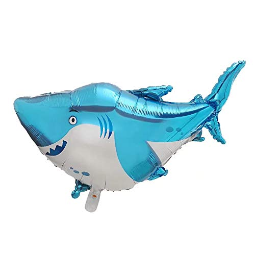 Baby Shark Theme Party Balloon - Inflatable Puffy Helium Balloon Supplies for Baby Shark Themed Birthday Party Event Or Activity -