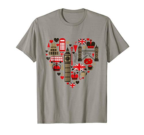 (Vintage London Tshirt I Love Travel Wanderlust Union Jack )