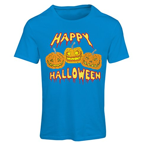 T Shirts for Women Happy Halloween! Party Outfits & Costume - Gift Idea (XX-Large Blue Multi Color) ()