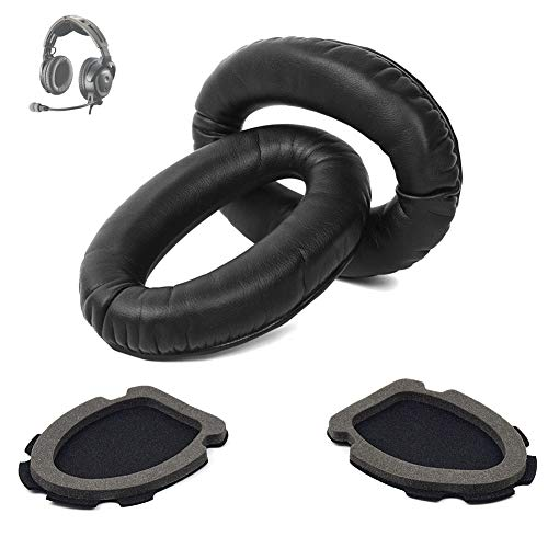 A20 Headset Replacement Ear Pads Ear Cushions Kit Compatible with Bose Aviation Headset X A10 A20 Headphone Ear Cups Ear Cover Earpads Repair Parts Memory Foam Earpads(Black)