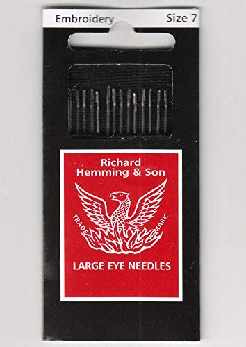Richard Hemming Needles - Embroidery Size 7 - Made in England