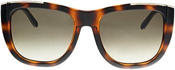 Chloe Brown Gradient Rectangular Sunglasses
