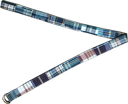 KVR Fashion Party cotton madras check plaid patchwork handmade girl teen waist belt (S, PW-4127)