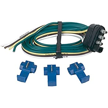 amazon com wesbar 707261 wishbone style trailer wiring harness hopkins 48125 4 wire flat trailer end connector splice connectors