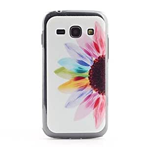DUR Sun Flower Pattern PVC Back Case for Samsung Galaxy Ace 3 S7272