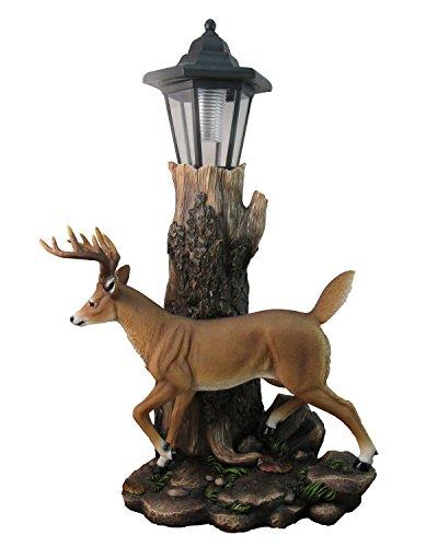 Whitetail Strolling Deer Yard to Lawn Lantern Statue By DWK | Wildlife Buck Decorative Outdoor Garden - Garden Buck