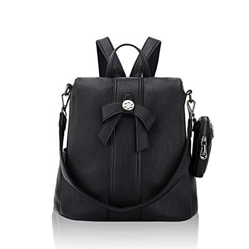Backpack Purse for Women Fashion Shoulder Bag Cute PU Leather Daypacks Purse Ladies Satchel Bags Anti-Theft Shoulder Bag…