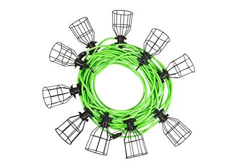 (Illuminator 41923 100-Foot Heavy Duty String Light with 10 Metal-Caged)