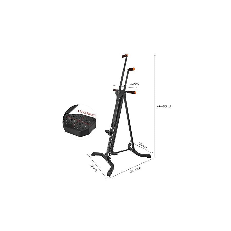 RELIFE REBUILD YOUR LIFE Vertical Climber for Home Gym Folding Exercise Cardio Workout Machine Stair Stepper Newer Version