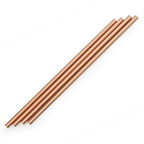 zeakko Copper Straw Cleaning Brush Included for Moscow Mule Mug (Set of 4), 8.5 inch