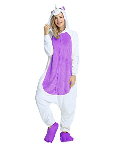 Animal Jumpsuits For Adults (Adult Pajamas Unisex Sleepsuit Animal Sleepwear Jumpsuit Halloween Cosplay Costume)
