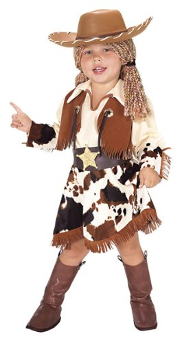 Cowgirl Costumes For Baby (Yarn Babies Cowgirl Toddler Costume - Toddler)