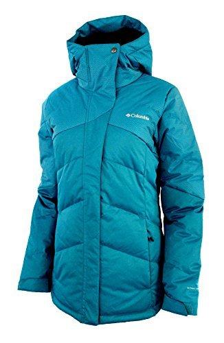 Columbia Women's First Tracks Down Ski Puffer Omni Heat Waterproof Jacket (M, Deep Marine)