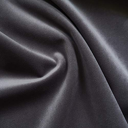 Solid Drapery/Upholstery Soft Velvet Fabric Color Pewter by The Yard