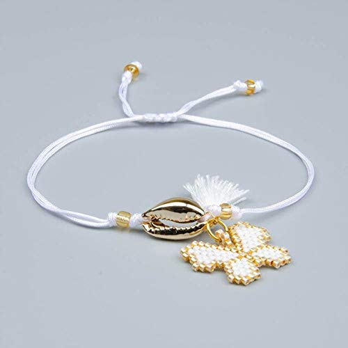 (Snowman Charm Bracelets | Gold Shell Handmade Jewelry | Women's 2019 Friendship (5Pcs/Lot))