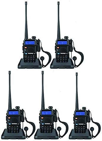 BaoFeng UV-5R Dual Band Walkie Talkie VHF UHF Two Way Radio 5 Pack