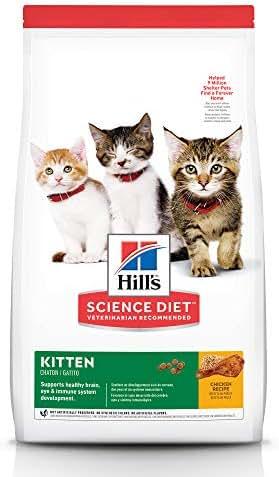 Hill's Science Diet Dry Cat Food, Kitten, Chicken Recipe, 15.5 lb Bag
