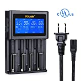 GOLISI 18650 Battery Charger Li-ion Batteries Universal Battery Charger for 26650, 20700, 21700, AAA, AA, Ni-cd, Ni-md Batteries Fast Smart Charger