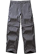 Toomett Kids' Boys Girls Outdoor Snowboard Pants Waterproof Camping Convertible Hiking Trousers #94090