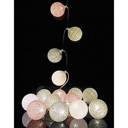 /16/bolas/ / /3/intensidades/ /Avatar Guirnalda luminosa Bolas de algod/ón LED USB//–/cargador USB doble 2/A