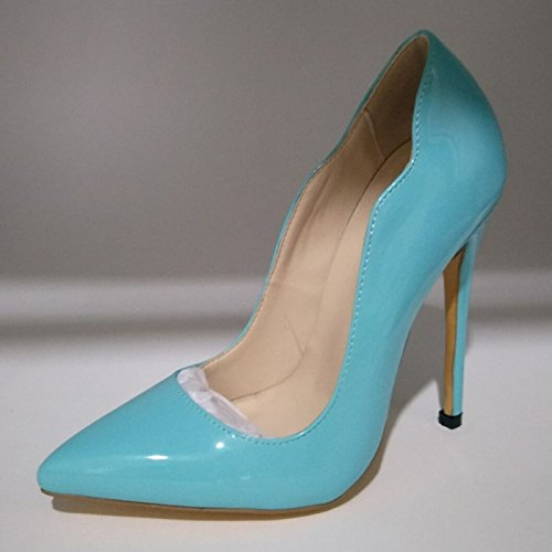 Blue Toe Heel Pu 8 Black 11 Sandals Pink Fashion Pointed Prom Pumps 34 Cm Blue 5 Shoes Shoes 45 Size High VIVIOO Sky A Beautiful CBqawxO