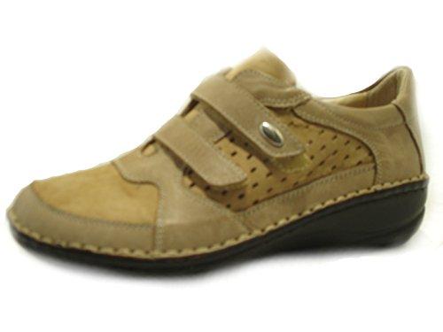GRUNLAND , Damen Sneaker Braun Cuoio, Braun - Cuoio - Größe: 40