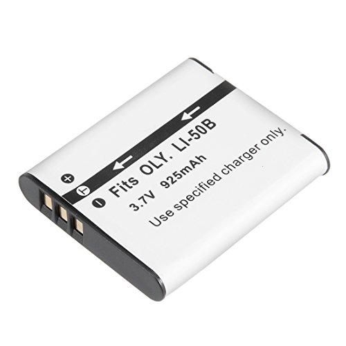 uxcell 3.7V 925mAh LI-50B Li-ion Battery Pack for Digital Video Camera Li 50b Replacement