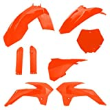 Acerbis Full Plastic Kit Flo Orange - Fits: KTM 85 SX 2013-2017