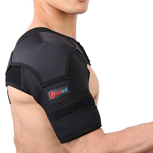 Shoulder Support Brace   Shoulder Brace Rotator Cuff   Dislocated Ac Joint  Compression Sleeve Recovery  Shoulder Injuries  Universal Size Right And Left Arm By Ganva