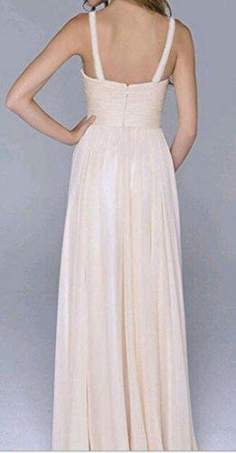 Cromoncent Paillettes Femmes Taille Empire Dos Nu Parti Balancer Rose Robe Longue