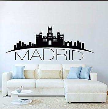 Fushoulu Decoración Para El Hogar España Madrid Skyline ...