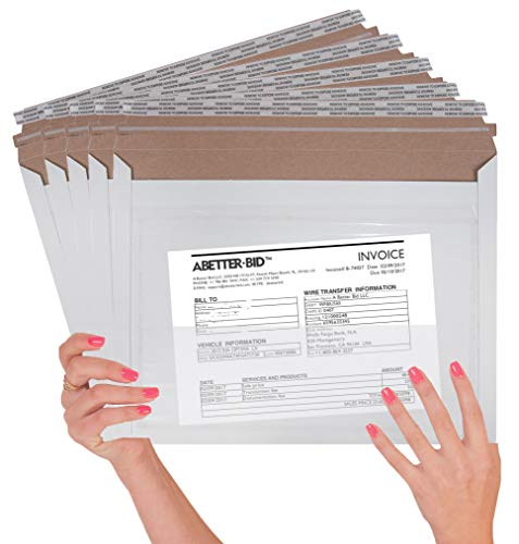 25 Pack Mailjackets Rigid Mailers 12.5 x 9.5 with the pocket. Large Paperboard Envelopes 12 1/2 x 9 1/2 long size opening. Stay flat, cardboard, corrugated, fiberboard, no bend mailers. Peel and Seal. (Priority Mail Express Flat Rate Envelope Cost)